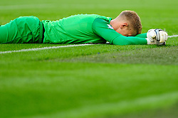 Manchester City's Joe Hart reacts after Manchester United's Wayne Rooney scores a free kick - Photo mandatory by-line: Dougie Allward/JMP - Tel: Mobile: 07966 386802 22/09/2013 - SPORT - FOOTBALL - City of Manchester Stadium - Manchester - Manchester City V Manchester United - Barclays Premier League