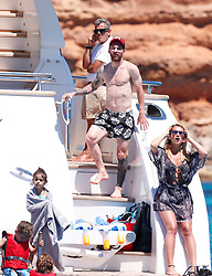 Football stars Leo Messi, Luis Suarez and Cesc Fabregas sail in the sea all together with thirs WAGS and sons and dughters , although it seems that Cesc Fabregas is not very friemdly with the water Leo Messi was riding in a jetski together with one of her daughters. 12 Jun 2017 Pictured: Leo Messi , Luis Suarez , Cesc Fabregas. Photo credit: MEGA TheMegaAgency.com +1 888 505 6342