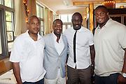 24 June 2010- Miami Beach, Florida- l to r: Bernard Bronner, Jeff Friday, Idris Elba, Ikechuku Ndukwe at the The 2010 American Black Film Festival Founder's Brunch held at Emeril's on June 24, 2010. Photo Credit: Terrence Jennings/Sipa