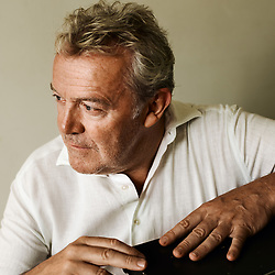 Chef Alain Passard, posing in his office, a few meters away from his restaurant L'Arpege. Paris, France. August 30, 2019.