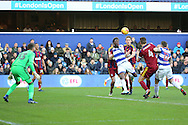 Queens Park Rangers forward Idrissa Sylla (40) about to score the first goal of the game 1-0 during the EFL Sky Bet Championship match between Queens Park Rangers and Ipswich Town at the Loftus Road Stadium, London, England on 2 January 2017. Photo by Matthew Redman.