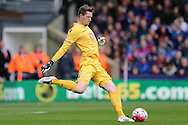 Goalkeeper Wayne Hennessey of Crystal Palace kicks the ball. Barclays Premier League match, Crystal Palace v Norwich city at Selhurst Park in London on Saturday 9th April 2016. pic by John Patrick Fletcher, Andrew Orchard sports photography.