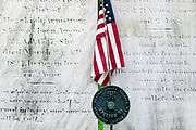 Grave of a revolutionary war soldier, Bennington, Vermont, USA.