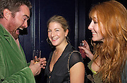 Nick Haddow, Rebeccah Green and Charlotte Tilbur, Tatler magazine Little Black Book party, Tramp. Jermyn St. 10 November 2004. ONE TIME USE ONLY - DO NOT ARCHIVE  © Copyright Photograph by Dafydd Jones 66 Stockwell Park Rd. London SW9 0DA Tel 020 7733 0108 www.dafjones.com