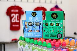 General views of Good4U products in the changing rooms prior to kick off - Mandatory by-line: Ryan Hiscott/JMP - 08/12/2019 - FOOTBALL - Stoke Gifford Stadium - Bristol, England - Bristol City Women v Birmingham City Women - Barclays FA Women's Super League