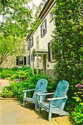 Mansion and chairs, Chanticleer Gardens, Wayne, PA