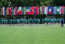 27.09.2012, Fluntern, Zuerich, SUI, FIFA World Cup 2014, Schiedsrichter Seminar, im Bild Die Schiedsrichter waermen sich vor den Uebungen auf // during a Trainingssession at the Referees Seminar for the 2014 FIFA World Cup, Fluntern, Zuerich, Switzerland on 2012/09/27. EXPA Pictures © 2012, PhotoCredit: EXPA/ Freshfocus/ Andy Mueller..***** ATTENTION - for AUT, SLO, CRO, SRB, BIH only *****