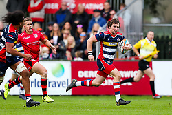 Rhodri Williams of Bristol Rugby scores a try - Rogan/JMP - 28/10/2017 - RUGBY UNION - Stade Santander International - St Peter, Jersey - Jersey Reds v Bristol Rugby - Greene King IPA Championship.