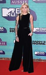 Skylar Grey arriving at the MTV Europe Music Awards 2017 held at The SSE Arena, London. Photo credit should read: Doug Peters/EMPICS Entertainment