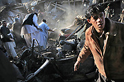 An alarming blast early in the March morning from the old city in Kabul killed at least 13 civilians. The police speculated that the explosion was caused by the chain reaction of gun powder in the row of gun shops. Many were also wounded and buried in the rubble as Kabul dealt with yet another accident that happens almost daily.