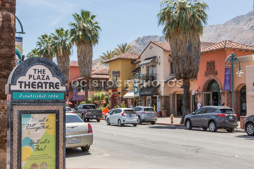 Downtown Palm Springs on Palm Canyon Drive
