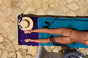 Girl Sunbathing - The Caves - Negril jamaica