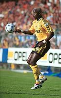 Mamadou Diallo, Lillestrøm. Lillestrøm - Vålerenga 4-1. Tippeligaen 1999. 16. juni 1999. (Foto: Peter Tubaas)
