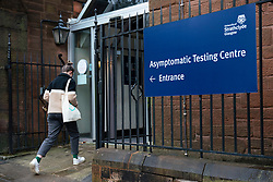 Glasgow, Scotland, UK.1 December 2020. Asymptomatic testing centre for students at Strathclyde University. Students who have no symptoms can use testing centre to find out if they are positive for Covid-19 before they leave for Christmas holiday.  Iain Masterton/Alamy Live News