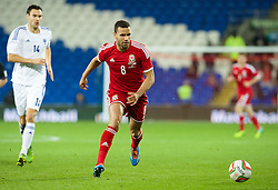 CARDIFF, WALES - Saturday, November 16, 2013: Wales' Hal Robson-Kanu in action against Finland during the International Friendly match at the Cardiff City Stadium. (Pic by David Rawcliffe/Propaganda)