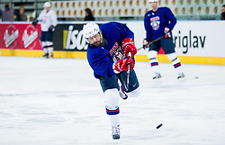 Matej Hocevar during practice session of Slovenian National Ice Hockey team first time in Arena Stozice before 2012 IIHF World Championship DIV I Group A in Slovenia, on April 13, 2012, in Arena Stozice, Ljubljana, Slovenia. (Photo by Vid Ponikvar / Sportida.com)