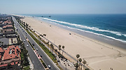 Empty Beaches in Huntington Beach Due to Government Shutdown