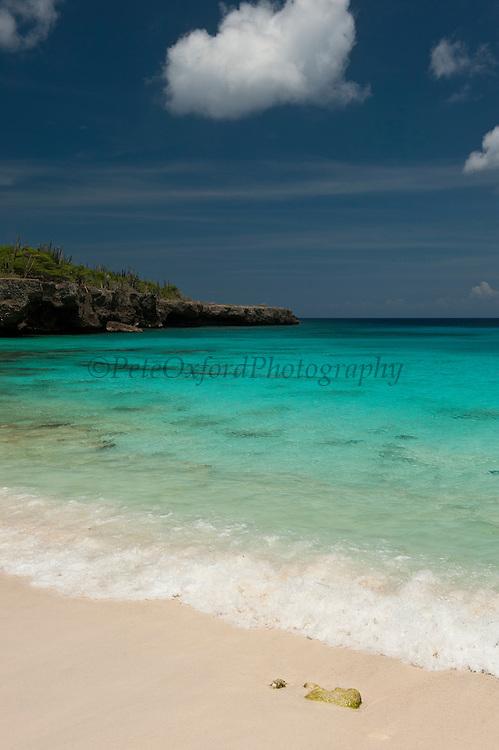 Beach Scene at Boca Slagbaai<br /> Slagbaai National Park<br /> BONAIRE, Netherlands Antilles, Caribbean