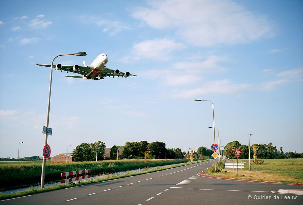 Zwanenburgbaan, Lijnden, Haarlemmermeer. Amsterdam Schiphol airport. © Holland Kodak Ektar series