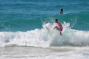 Israel, Haifa, summer activity on the beach Surfers