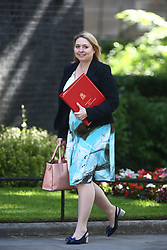 © Licensed to London News Pictures. 13/06/2017. London, UK. Karen Bradley arrives at Downing Street for the second cabinet meeting in two days ahead of todays visit by DUP leader Arlene Foster. Photo credit: Andrew McCaren/LNP