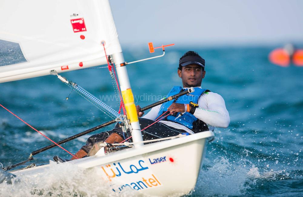 Laser World Championships 2013. Mussanah. Oman. Day 2 of racing, Hussain Al Jabri (OMA)<br /> <br /> Credit: Lloyd Images