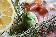 Roasted brussells sprouts with serrano ham and rosemary. (Ken Lambert / The Seattle Times)