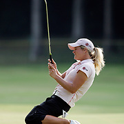 HAVRE DE GRACE, MD, June 7, 2007: Suzann Petersen reacts to a missed put on the 16th hole during the final round of the LPGA Championship at Bulle Rock Golf Club in Havre De Grace, MD on June 10, 2007.  (Photo by Todd Bigelow/Aurora)