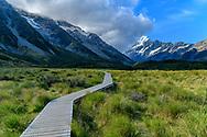 Oceania; New Zealand; Aotearoa; South Island; Otago; Mount Cook; National Park, Hooker Valley,