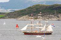 Norway, Randaberg. Tall Ships Race in Stavanger 2011. Stad Amsterdam.
