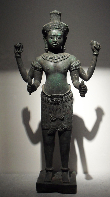 Male deity (Lokesvara?) Cambodia or current neighbours. Third quarter of the 12th century. Bronze, lost wax casting: Cambodia uncertain provenance.