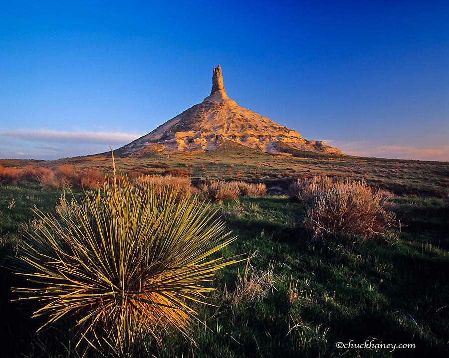 Chimney Rock an American icon near Bayard Nebraska