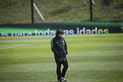 March 20, 2018 - Lisbon, Portugal - Portugal's head coach Fernando Santos takes part in a training session at Cidade do Futebol training camp in Oeiras, outskirts of Lisbon, on March 20, 2018 ahead of the friendly football match in Zurich against Egypt on March 23. (Credit Image: © Carlos Costa/NurPhoto via ZUMA Press)