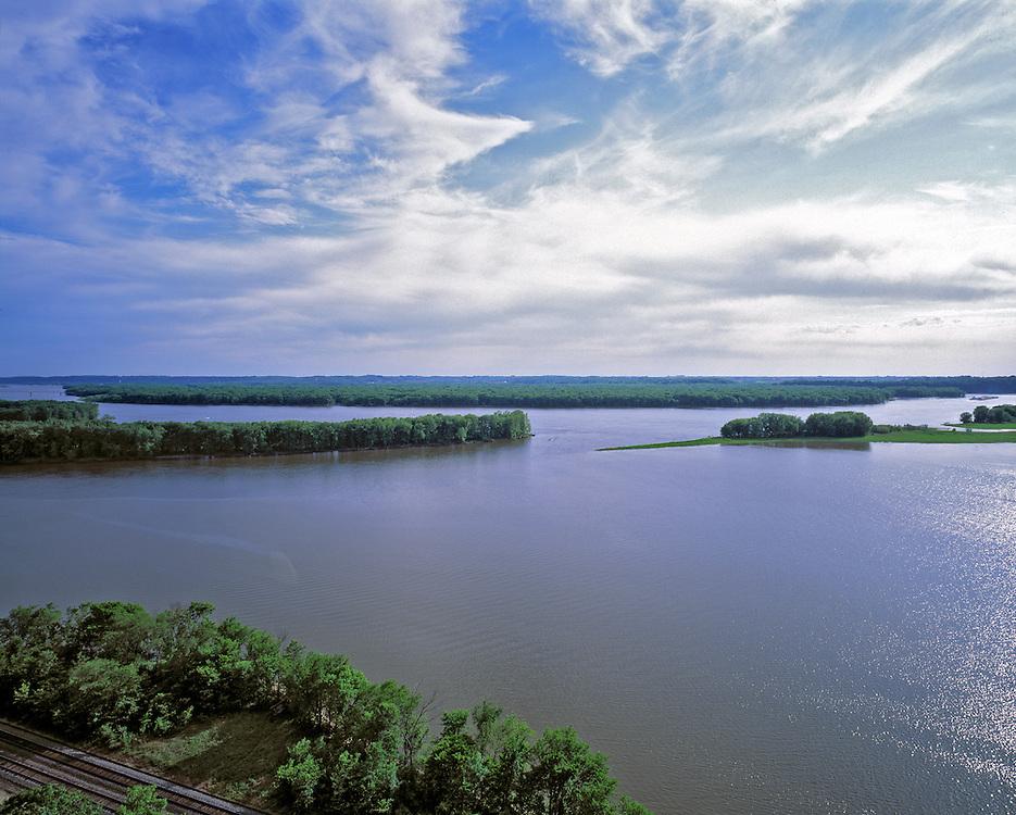 Islands in the Mississippi River, near Clinton, Iowa.