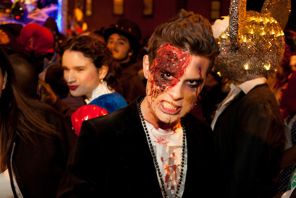 A zombie in the parade.