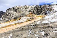 Walking around the upper loop around Mammoth Hot Springs in Yellowstone<br /> <br /> ©2015, Sean Phillips<br /> http://www.RiverwoodPhotography.com