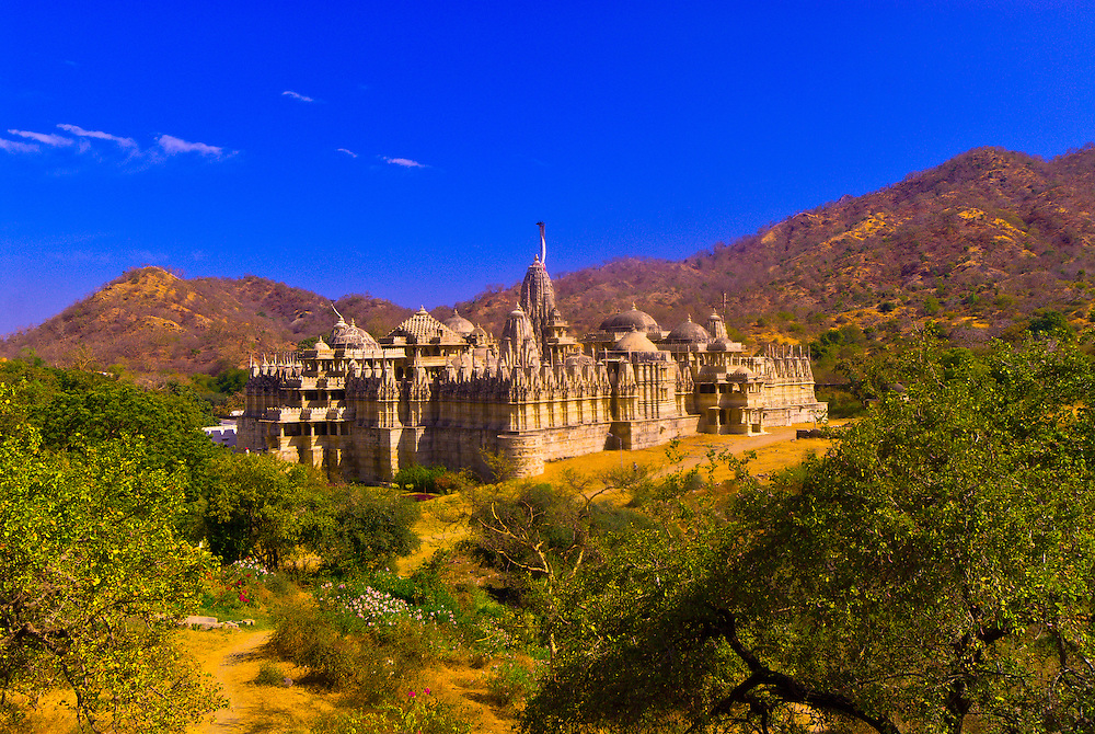 Overview of the Jain Temple, Ranakpur, Rajasthan, India
