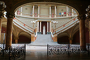 Interior of the Romanian Atheneum, a concert hall in Bucharest, Romania. Inaugurated in 1888.