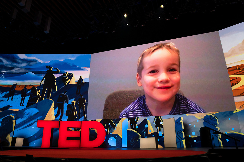 Jack Bird speaks at TED2019: Bigger Than Us. April 15 - 19, 2019, Vancouver, BC, Canada. Photo: Bret Hartman / TED