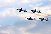 Israeli Air force Flight Academy Beechcraft T-6A Texan II Aerobatics team in flight