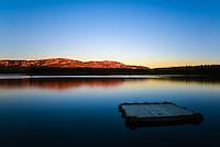 Sunset on Schwatka Lake, Yukon