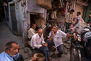 """Tea stall in the bazar of old Jodhpur -""""The Blue City"""" is the most important city of Rajasthan after the capital Jaipur, central to the Thar desert region and its colourful culture."""