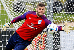 England's Frazer Forster makes a save  - Mandatory byline: Matt McNulty/JMP - 22/03/2016 - FOOTBALL - St George's Park - Burton Upon Trent, England - Germany v England - International Friendly - England Training and Press Conference