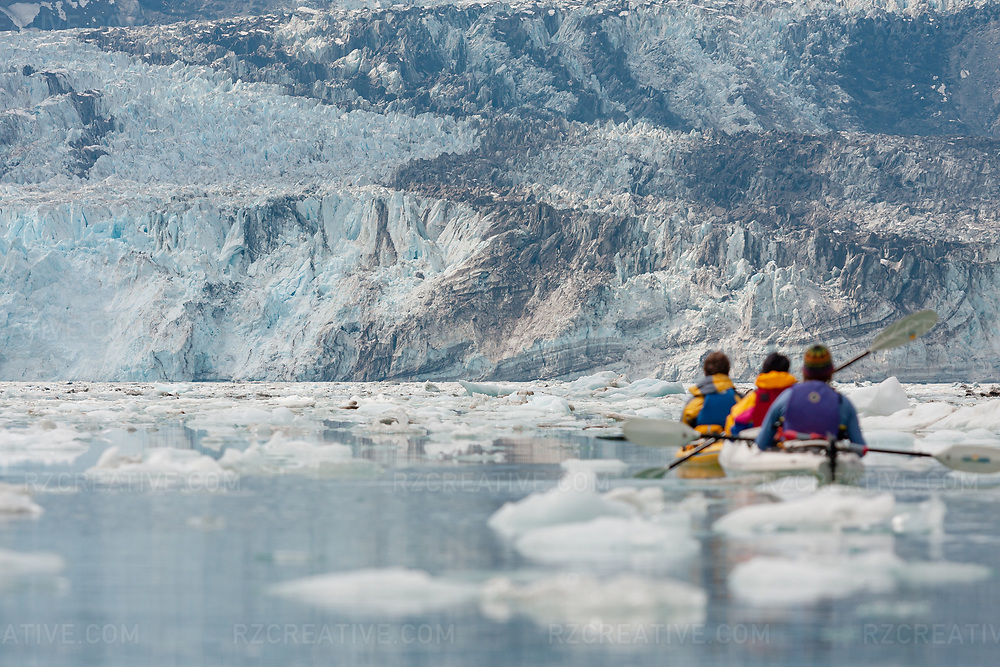 Paddling in Johns Hopkins Inlet in southeast Alaska's Glacier Bay National Park and Preserve. Photo © Robert Zaleski / rzcreative.com<br /> —<br /> To license this image contact: robert@rzcreative.com