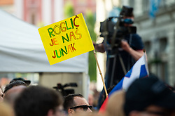 Fans of Primoz Roglic during reception of best Slovenian riders after Giro d'Italia 2019 and Tour of California 2019, on June 3rd, 2019, in Mestni trg, Ljubljana, Slovenia. Photo by Vid Ponikvar / Sportida