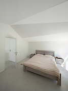 architecture, interior modern house, bedroom with double bed