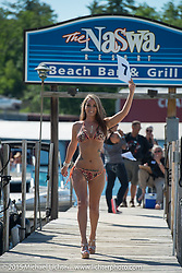 The Naswa Beach Resort in Weir's Beach during Laconia Motorcycle Week. NH, USA. June 19, 2014.  Photography ©2014 Michael Lichter.