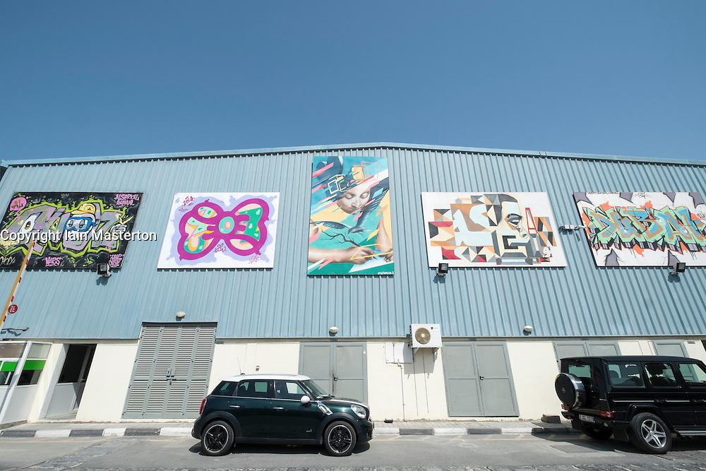 Alserkal Avenue art district in Al Quoz Dubai United Arab Emirates