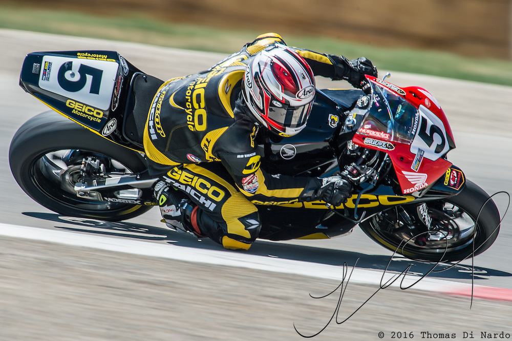 August 3, 2013 - Tooele, UT - Dane Westby competes in Daytona Sportbike Race 1 at Miller Motorsports Park.