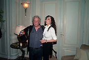 DAVID BAILEY; MARIE HELVIN, Dinner to mark 50 years with Vogue for David Bailey, hosted by Alexandra Shulman. Claridge's. London. 11 May 2010